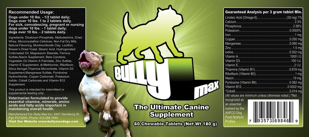 Bully Max 120 Day Supply